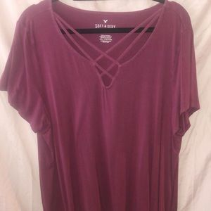 AE Soft & Sexy Maroon Top
